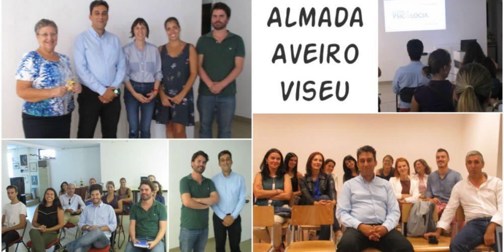 Sessões de Almada, Aveiro e Viseu: Feedback