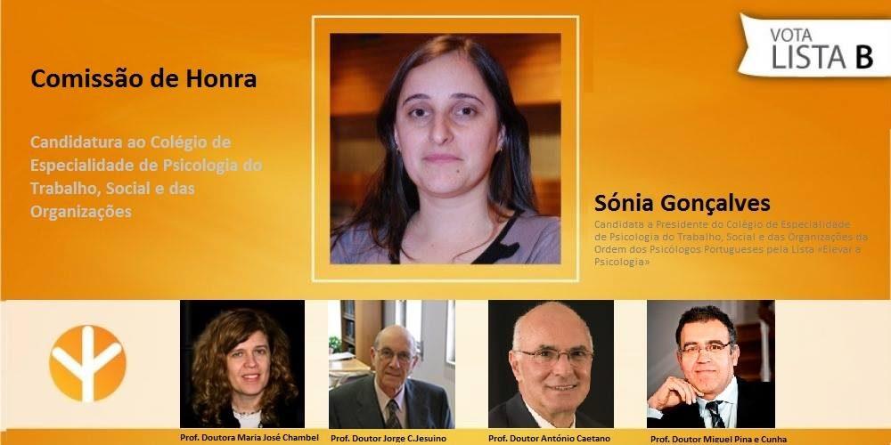 Comissão de Honra do Colégio de Especialidade de Psicologia do Trabalho, Social e das Organizações