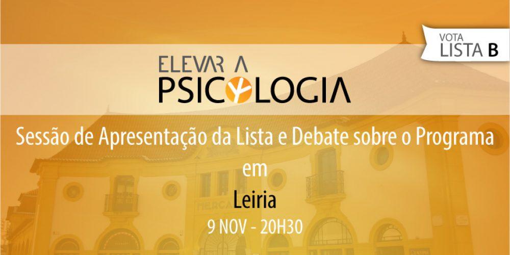 Leiria: Sessão de Apresentação da Lista e Debate sobre o Programa